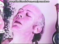 Vintage blowjob with cumshot