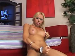 Sex crazed shemale with horny blonde slut and black cock