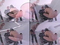 Horny paraplegic dude gets to pole two hot and horny dominatrix sluts