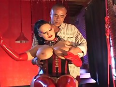 Dominatrix babe loves latex and fucking