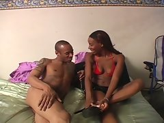 Hot ebony lady armani does a favor to her boyfriend