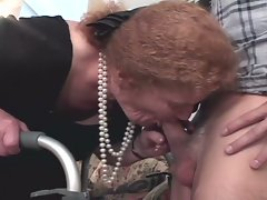 Fiery cum starving grandma taking fresh stiff boner