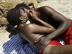 Hot black fuck by the beach