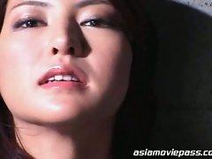 Sexy asian babe loves facial cum