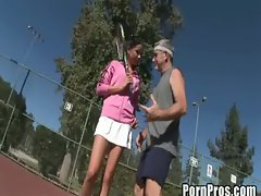 Sexy laci laine fucked by tennis coach