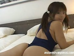 Sweet japanese schoolgirl getting naughty
