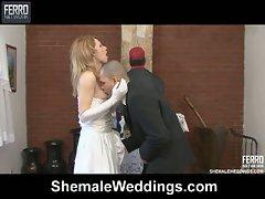 Ladyboy bride is so desperate to fuck