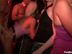 Sexy babes love hot bar fucking in this sex party