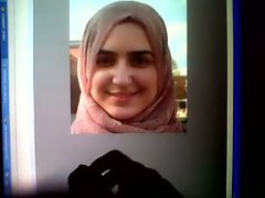 Cumshot Tribute to Arab Hijab cumslut Amina