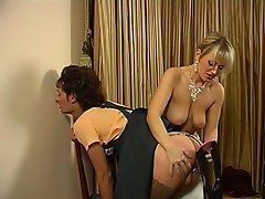 Hot sissy guy feels like putting his ass in the air for a babe's...