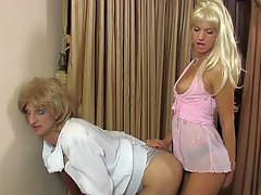 Hot sissy taking a serious amount of ass poking from a strap-on armed...