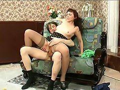 Hot mature gal giving slurp job and getting to hot humping with a...
