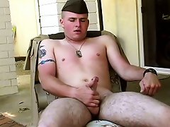 Straight military cock...
