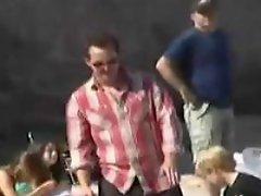 Matthew McConaughey having fun in the sun with his friends....