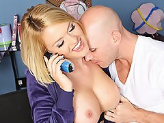 Krissy's phone sex session with her long distance boyfriend is cut...