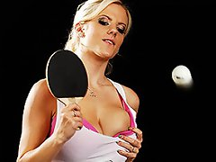 This high stakes match of strip ping pong pits Haley Cummings, the...