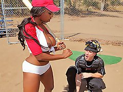 There is an intense baseball game going on today at brazzers feild...