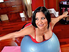 Sophia is one hot mama who keeps herself in shape with daily Yoga....
