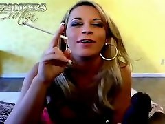 Sweety blonde cigar sucking whore Kori Tyler gives blowjob to a black...