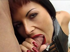 Get hot and horny as you view slutty Judy Flash slurps on a big hard...