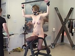 This daring blonde slut agrees to this kinky lesbian that she can...