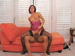 This naive looking chick is ready for business. Watch her as she gets...
