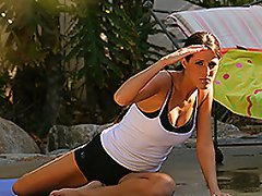 I was in Kortney's backyard the other day filming her working out,...