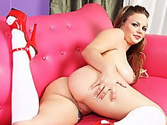 Katy Karson is a gorgeous girl next door who looks like she's in the...