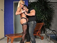 This transsexual pornstar is in the mood for some fun, and her idea...