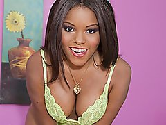 Candice is one gorgeous black babe with a winning smile, huge boobs,...