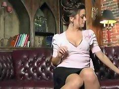 nice secretary without panties