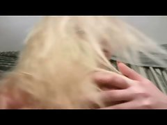 Big tits blond plump beauty fingering herself.