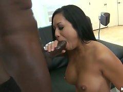 Kayme Kai deep throat black dick penetration