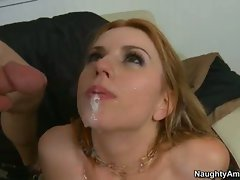 Lexi Belle taste the cum of hot friend's brother