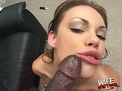 Gia Paloma take the cum from long black dick