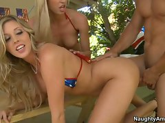 Samantha Saint and Victoria White get hard anal