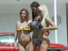 Angel Dark, Sara Stone and Breanne Benson hottie babes