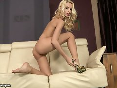 Erica Fontes sexy blonde babe take clothes off