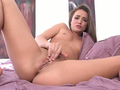 Tori Black gives her twat a real hot massage