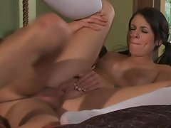 Cutie in pigtails fuck and facial scene