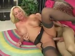 Marvelous milf in black stockings laid by thick cock