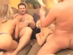 Husbands and wives swap in hot video