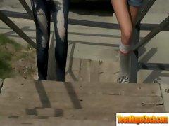 Teen Slut Girl Get Hard Cock To Ride video-28
