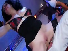 Dirty sluts bounce away on hard dick at the sexy orgy