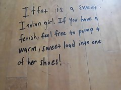 Cumming in an Indian girl'_s shoes.