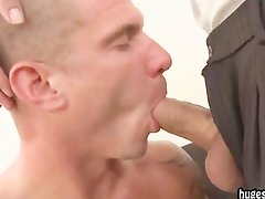 Guy gets cock in mouth then in his ass