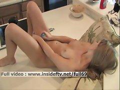 Brigitte _ Amateur blonde masturbating her pussy to orgasm