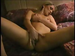 Blonde Masturbates In Motel Room
