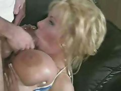 Busty Blonde Double Fucked