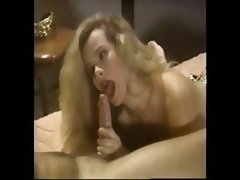 Sexy classic beauty Trinity Loren eats his cock and gets a vintage ass fuck